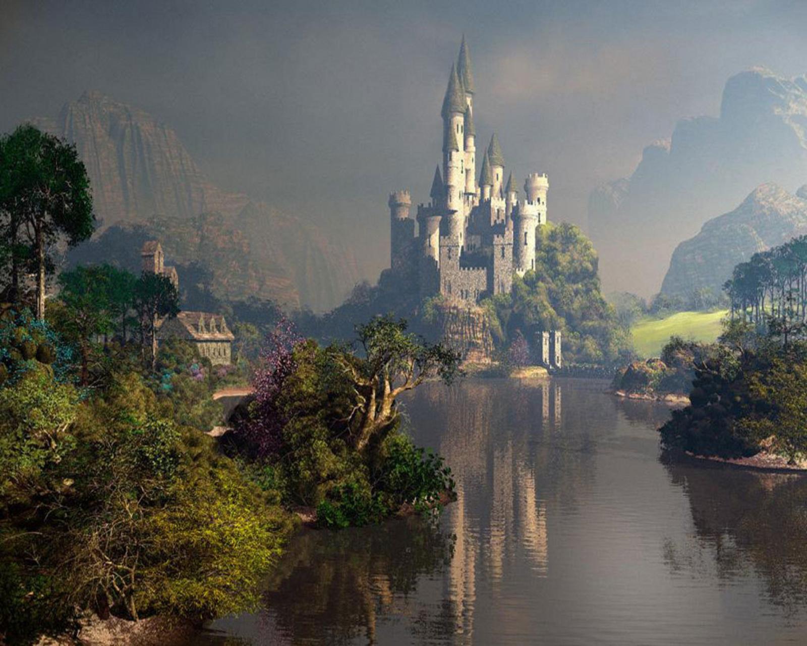 landscapes castles fantasy art - photo #41