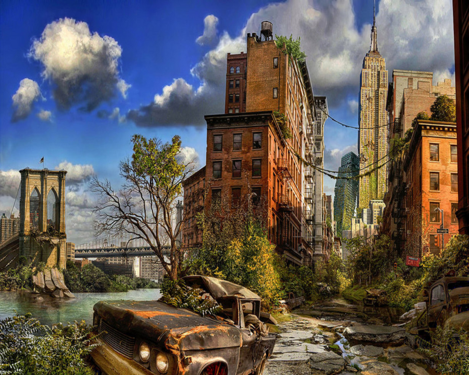 Post Apocalypse New York City by myjavier007 on DeviantArt