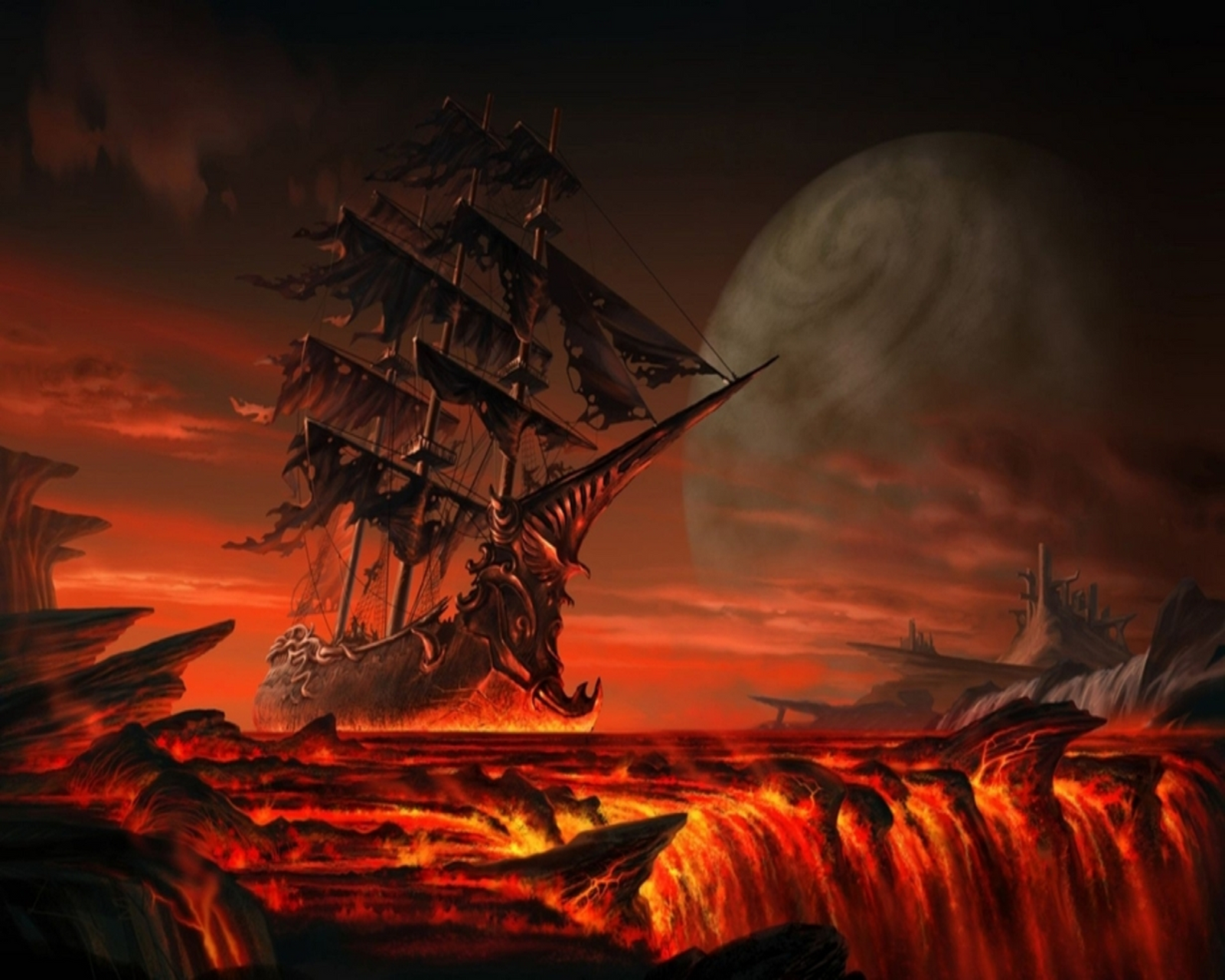 famous pirate ship paintings