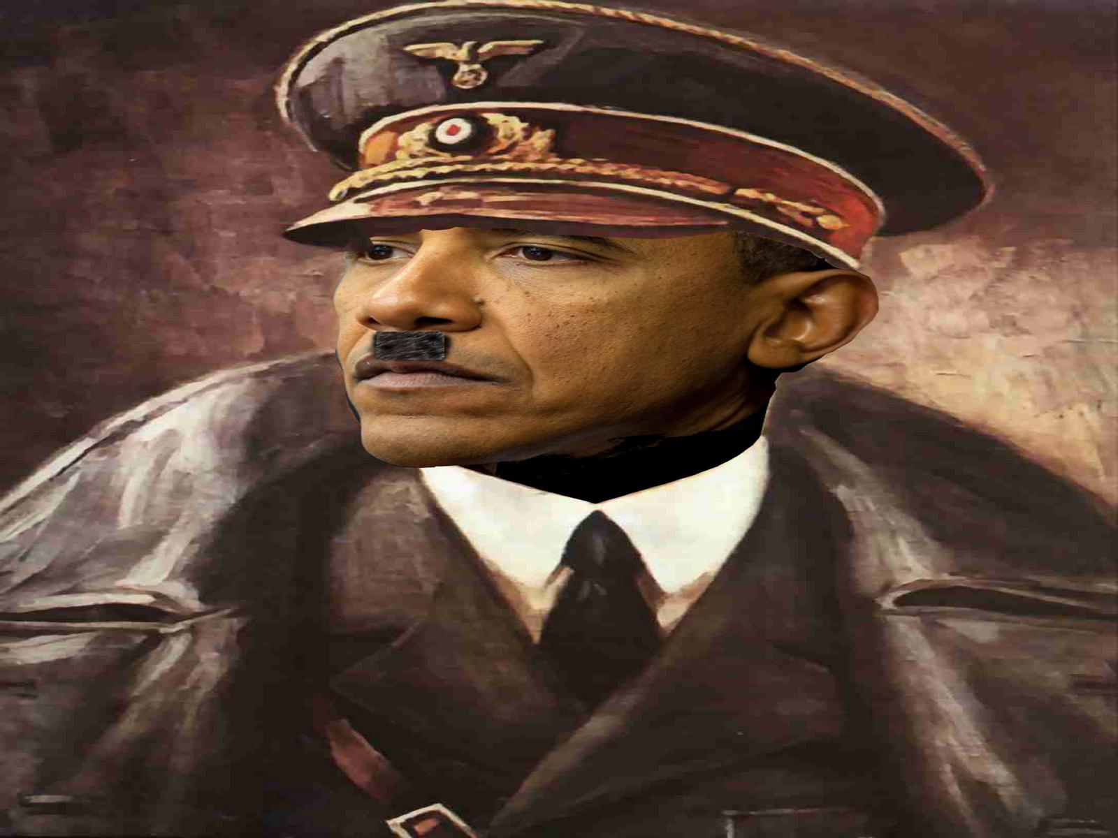 Nazi Hitler Barack Obama by myjavier007
