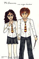 AT- Hermione and Ron by EmiliaArgon
