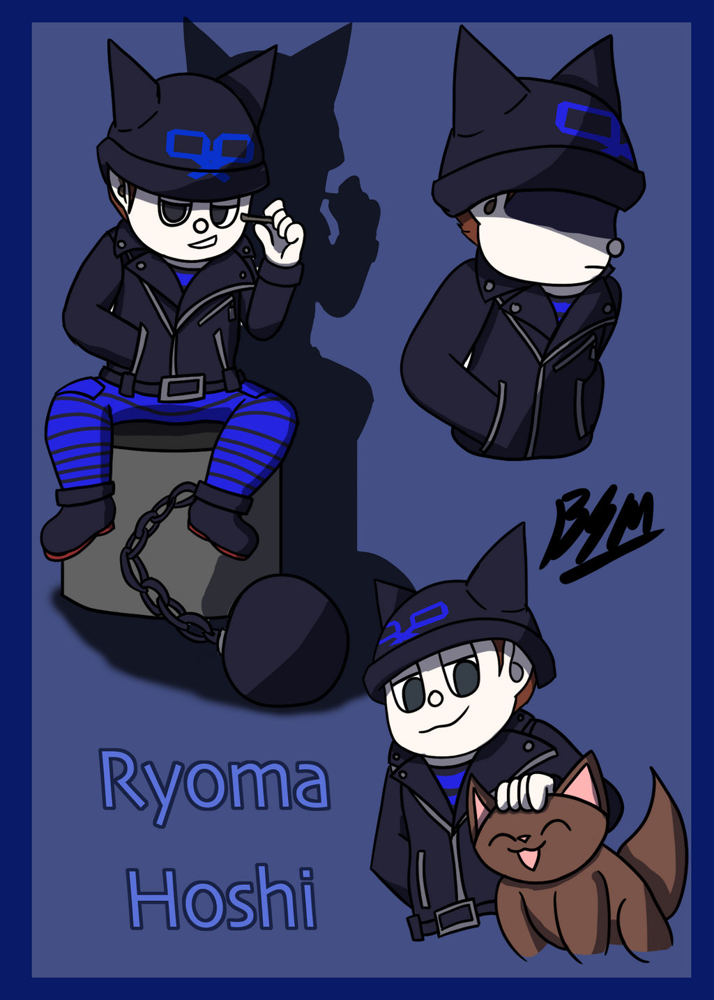 Danganronpa V3 06 Ryoma Hoshi By Mamaluigi2018 On Deviantart Hoshi ryoma #what's this called #i call it the cat grip #you know how cats grab kittens like this #they're both associated with cats #and have cat silhouettes. danganronpa v3 06 ryoma hoshi by