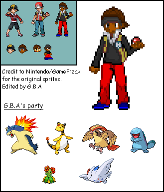 G B A - Pokemon Trainer sprite by TheGreatGBA on DeviantArt