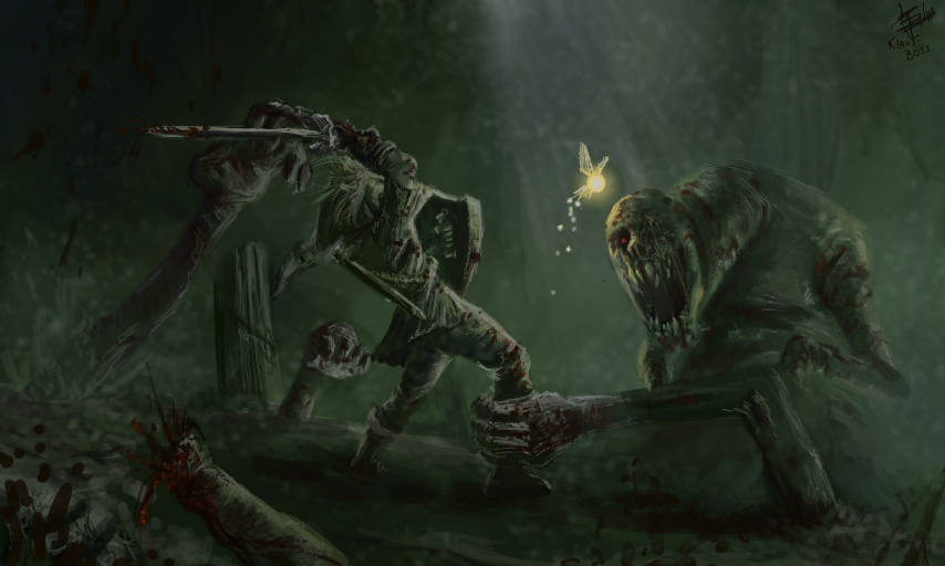 Vos personnages de fiction favoris ? Link_vs_dead_hand_by_klausboss-d6lzo5s