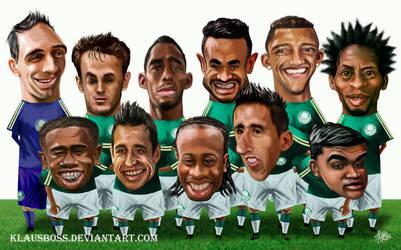 Caricaturas Palmeiras Campeao 2015
