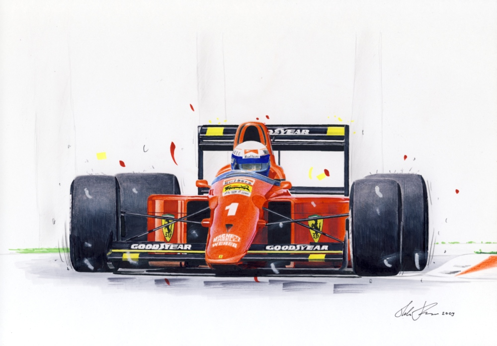 Alain Prost in ferrari 641 by klem