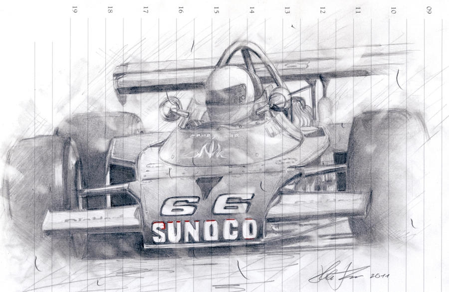 Mark Donohue wins Indy 500 by klem