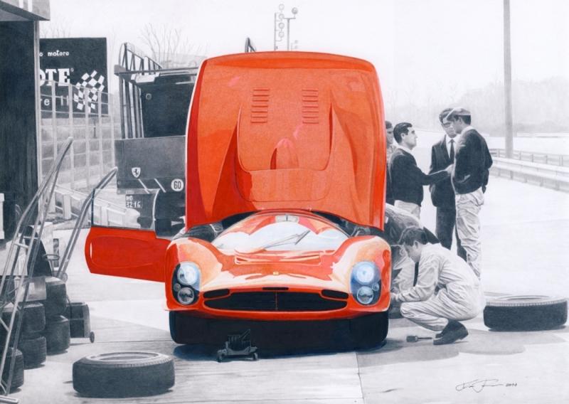 Ferrari 330 P3 testing by klem