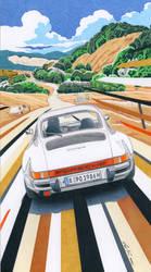 Porsche 911 in the countryside