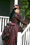 Victorian 1889 costume and hat by debellespoupees