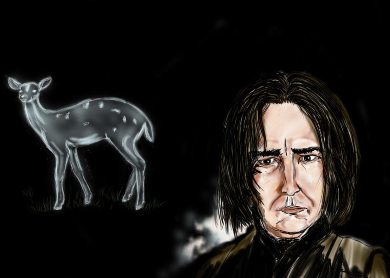 Snape And Patronus by Saelok