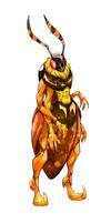 Deaths head hawk moth female