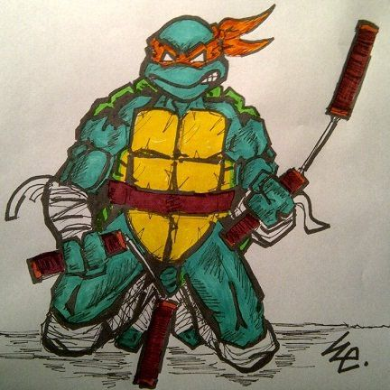 IDW Mikey Colored by dark-es-will
