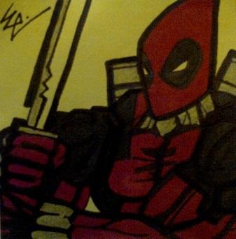 Deadpool Post-It by dark-es-will