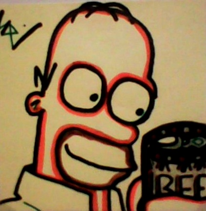 Homer Post-It by dark-es-will