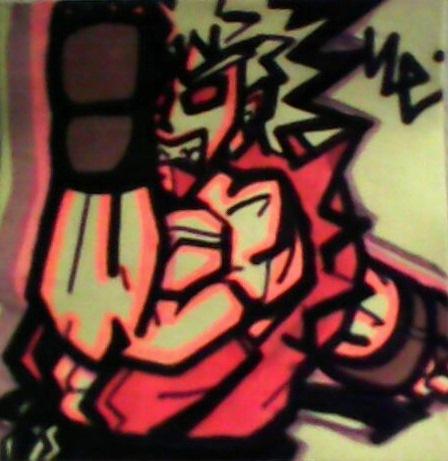 Ken's Violent Punch Post-It by dark-es-will
