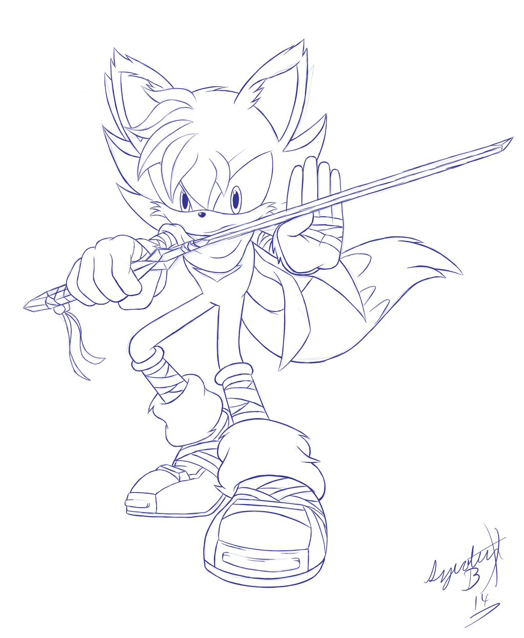 sonic wolf coloring pages - photo#43