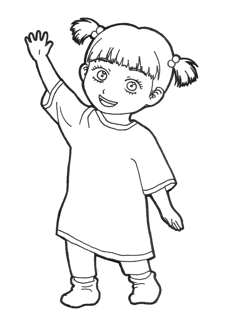 Boo monsters inc by pepimania on deviantart for Coloring pages monsters inc
