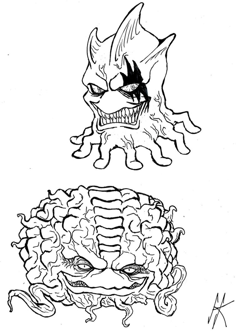 Ch'rell and Krang by devilkais