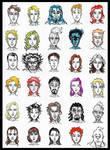 Faces 1 by devilkais