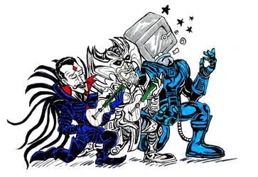 Los Tres X-Jefes ... by devilkais