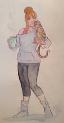 Coffee and kitties  by mianewarcher