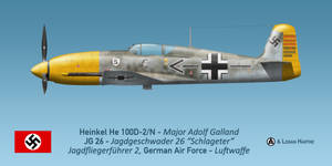 Adolf Galland's He 100D-2/N by comradeloganov