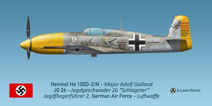 Adolf Galland's He 100D-2/N