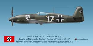 Heinkel He 100D-1 Greif by comradeloganov
