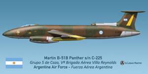 Argentinian Martin B-51B Panther - Falklands 1982