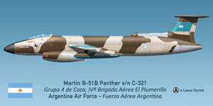 Argentinian Martin B-51B Panther - Falklands 1982 by comradeloganov