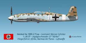 Werner Schroer's Heinkel He 100D-2 Trop 'Afrika'