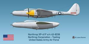 Northrop XP-61F Escort Fighter Prototype by comradeloganov