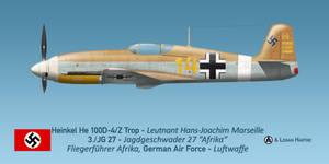 Marseille's Heinkel He 100D-4/Z Trop 'Afrika'