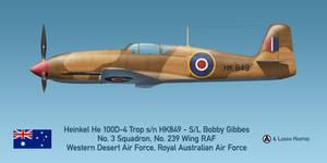 Gibbes' Australian Heinkel He 100D-4 Trop RAAF