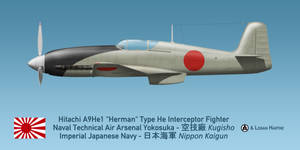 Japanese Hitachi A9He1 Herman (Heinkel He 100)