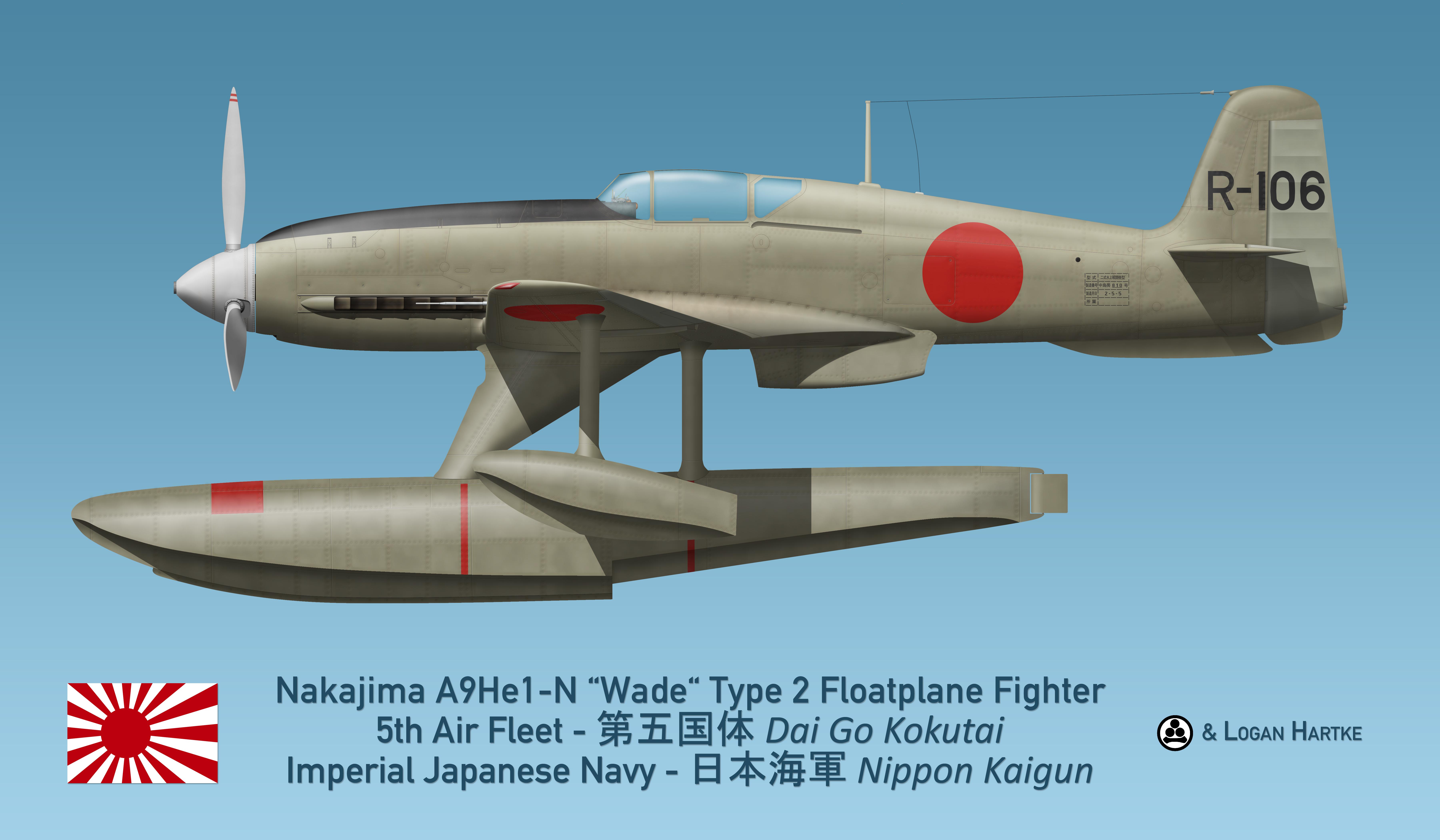 Nakajima A9He1-N Wade Type 2 Floatplane Fighter