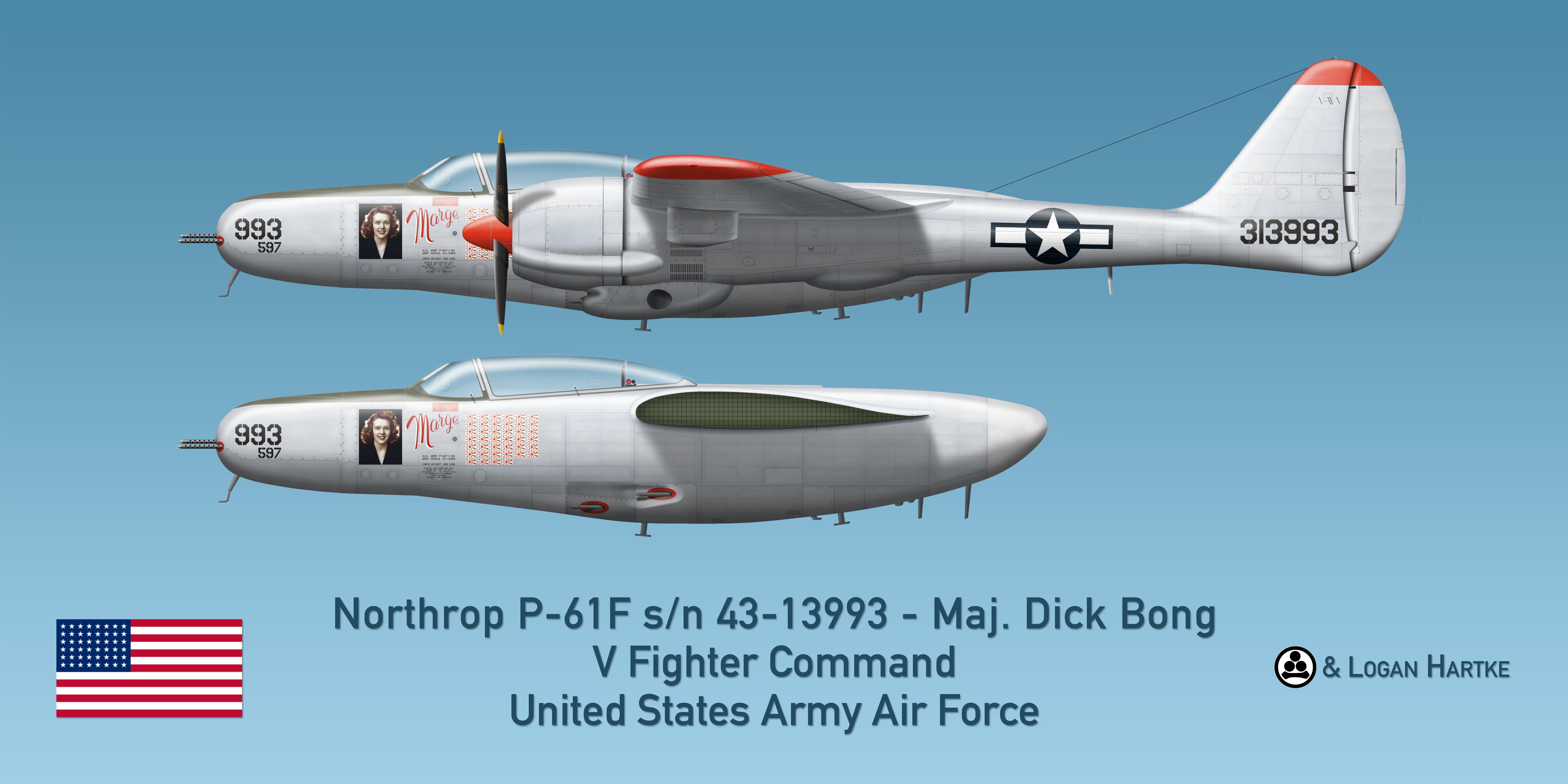Northrop P-61F Escort Fighter - Marge - Maj. Bong