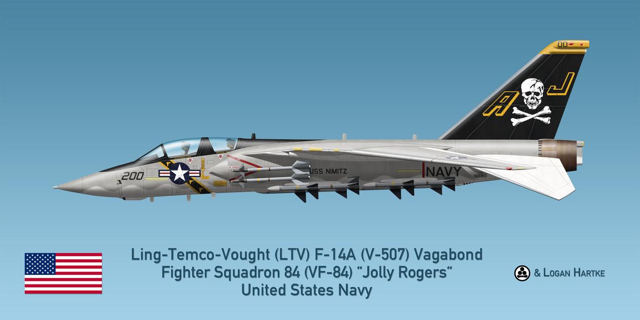 Vought V-507 F-14A Vagabond - VF-84 Jolly Rogers by comradeloganov