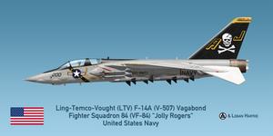 Vought V-507 F-14A Vagabond - VF-84 Jolly Rogers
