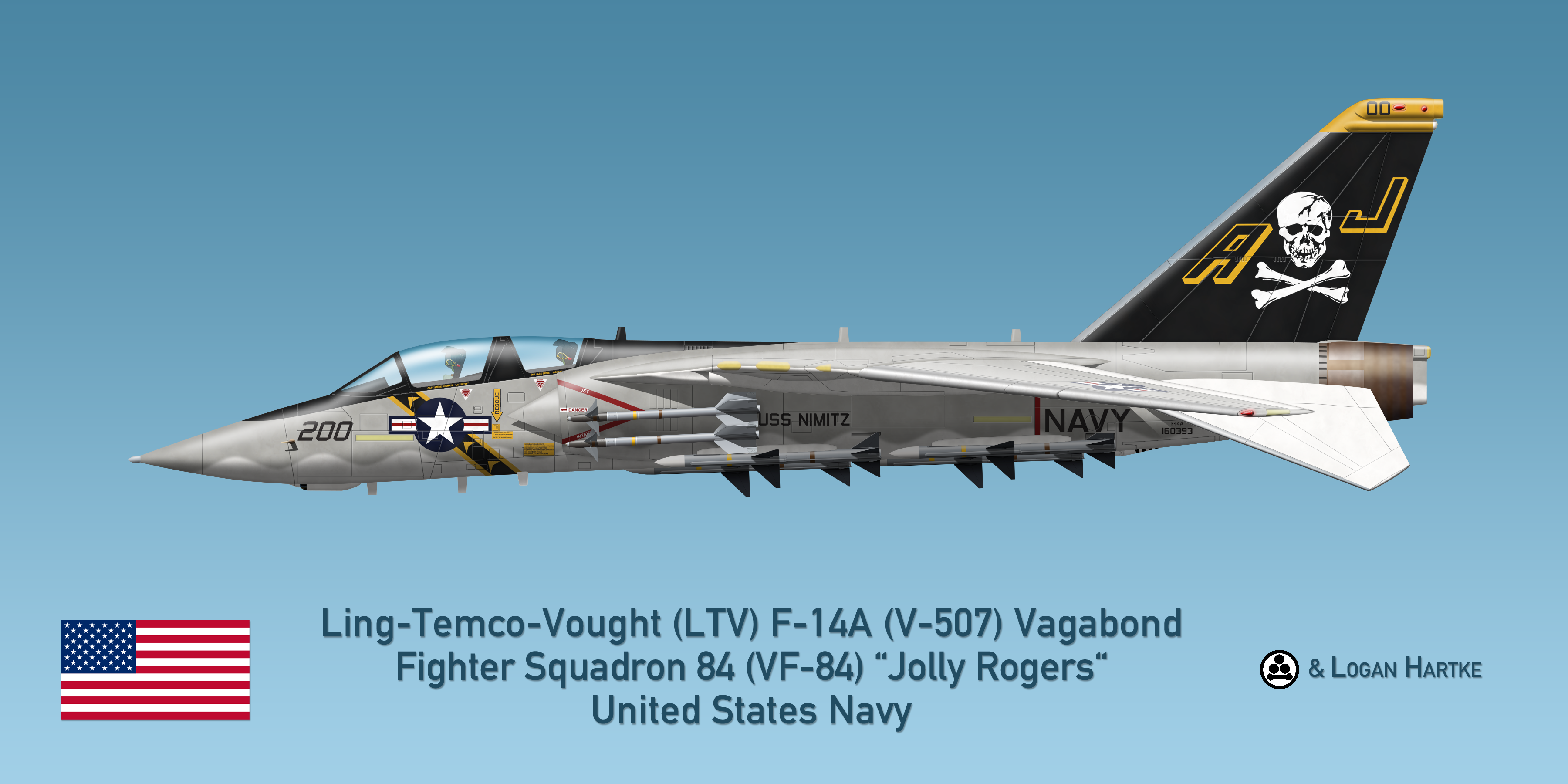 Vought V-507 F-14A Vagabond - VF-84 Jolly Rogers