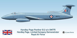 RAF Handley Page Panther B.2 - Farnborough 1955