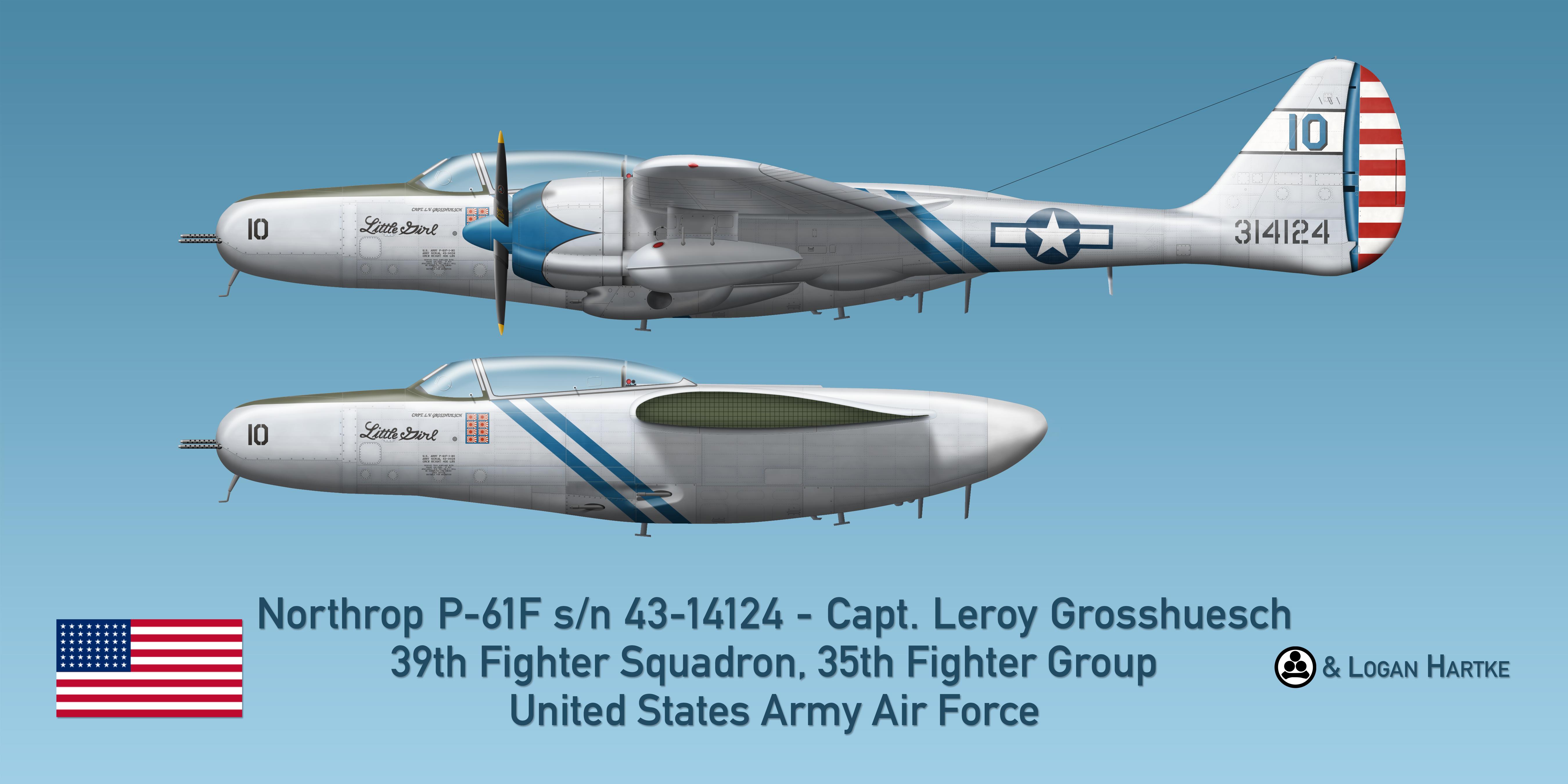 Northrop P-61F - Little Girl - Capt. Grosshuesch