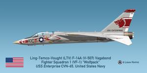 Vought V-507 F-14A Vagabond - VF-1 Wolfpack by comradeloganov