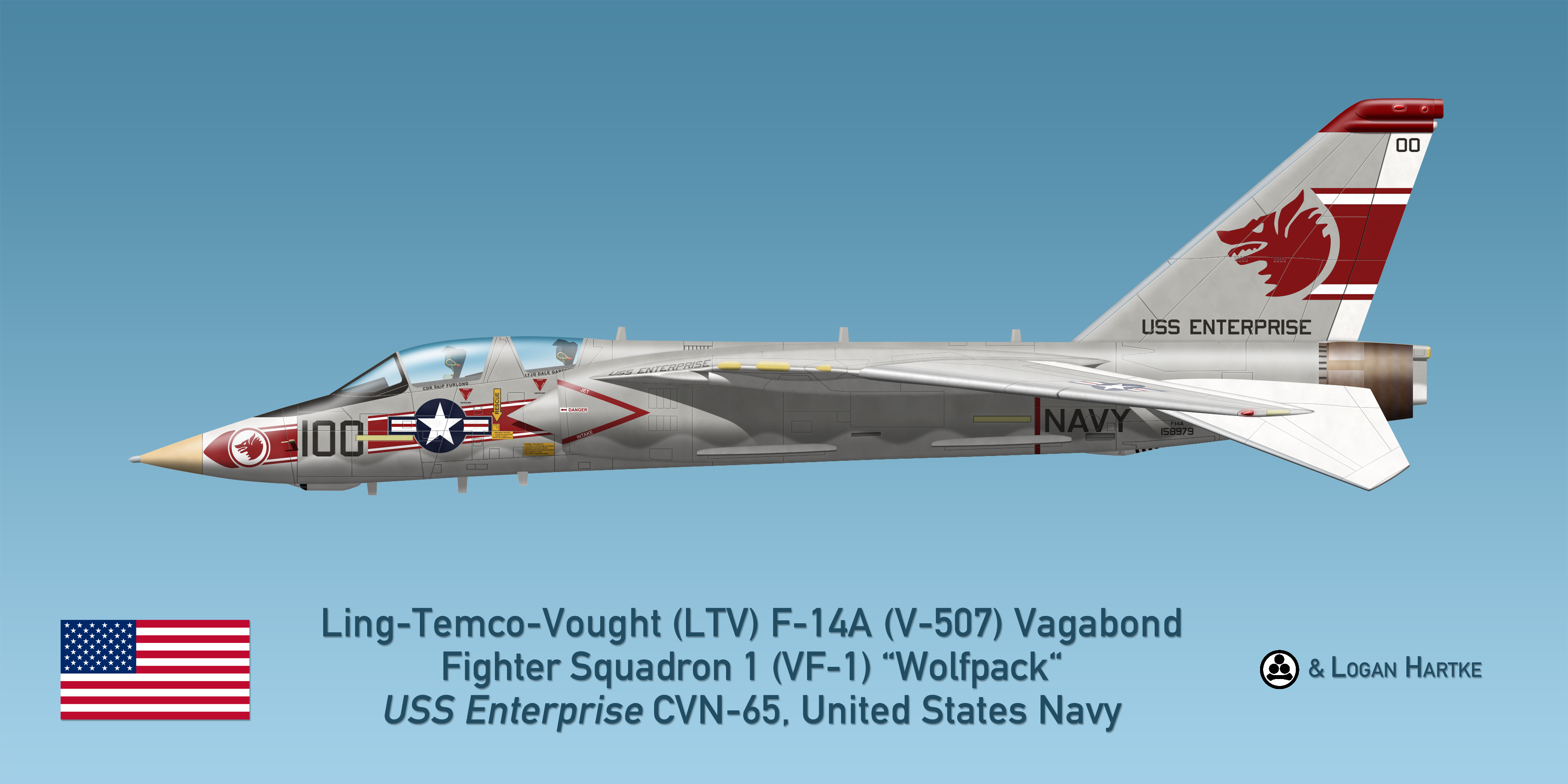 Vought V-507 F-14A Vagabond - VF-1 Wolfpack