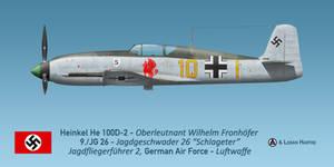 Willi Fronhoefer's Heinkel He 100D-2 by comradeloganov