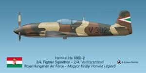 Hungarian Heinkel He 100D-2