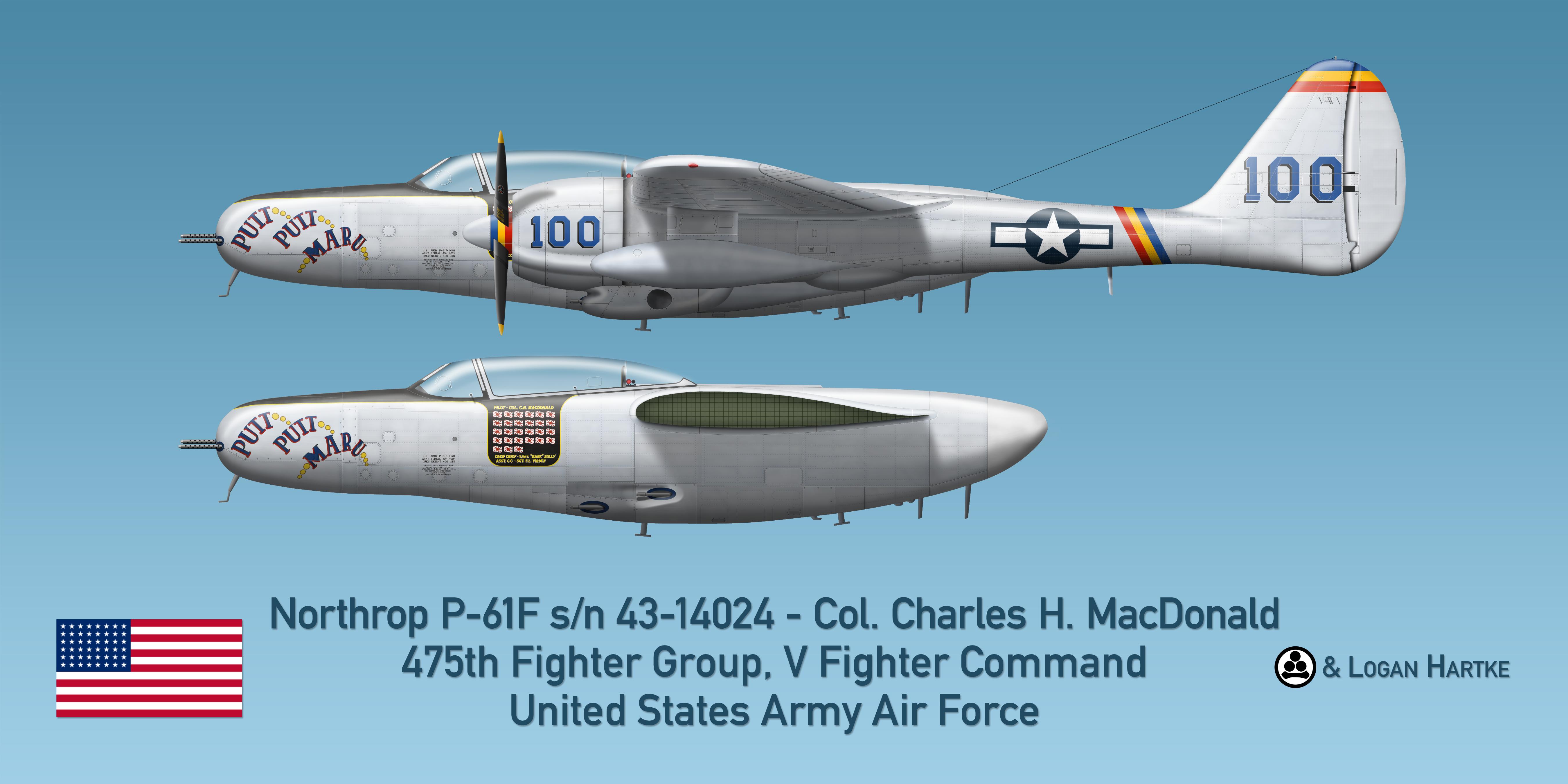 Northrop P-61F - Putt Putt Maru - Col. MacDonald