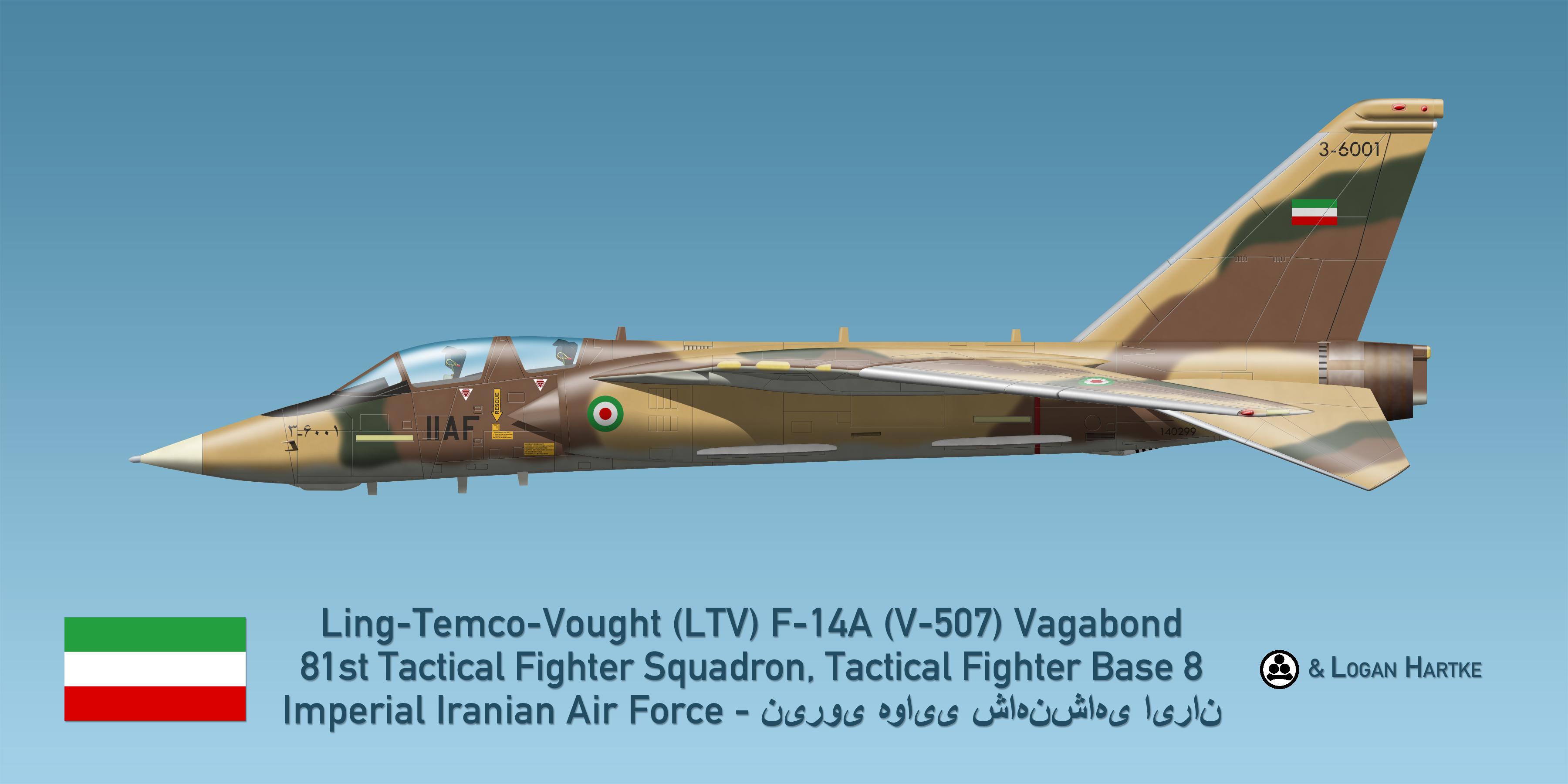 Vought V-507 F-14A Vagabond - Iran