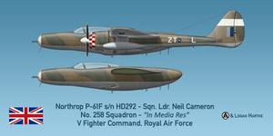 Northrop P-61F Widow - Sqn. Ldr. Neil Cameron by comradeloganov
